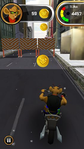 Écrans du jeu Biker mice from Mars pour iPhone, iPad ou iPod.