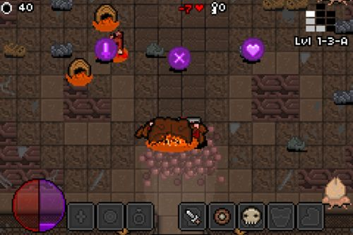 Screenshots of the Bit dungeon game for iPhone, iPad or iPod.