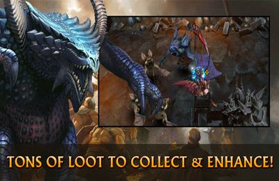 Screenshots vom Spiel Black Gate: Inferno für iPhone, iPad oder iPod.