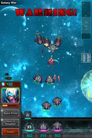 Écrans du jeu Black wings 2: Galaxy pour iPhone, iPad ou iPod.
