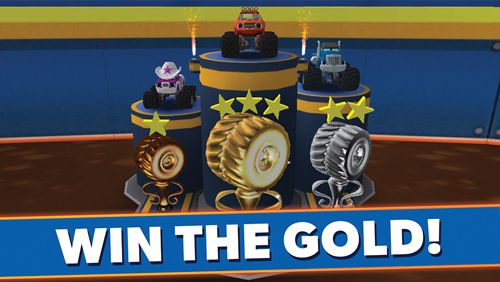 Screenshots of the Blaze and the monster machines game for iPhone, iPad or iPod.
