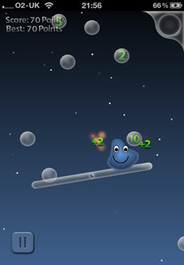 Screenshots do jogo Blobble para iPhone, iPad ou iPod.