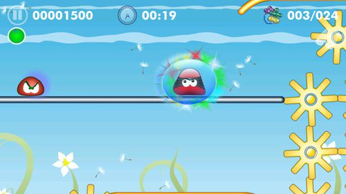 Screenshots do jogo Blobster para iPhone, iPad ou iPod.