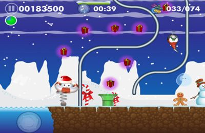 Download Blobster Christmas iPhone free game.