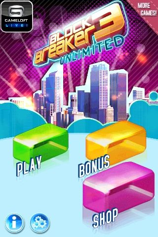 Download Block breaker 3: Unlimited iPhone free game.