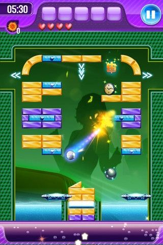 Screenshots of the Block breaker 3: Unlimited game for iPhone, iPad or iPod.