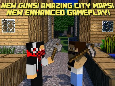 Écrans du jeu Block Clans - Pixel World Gun pour iPhone, iPad ou iPod.