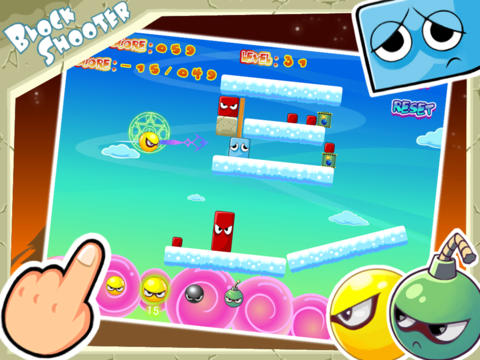 Écrans du jeu Block Shooter pour iPhone, iPad ou iPod.