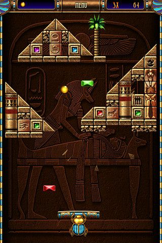 Kostenloser Download von Blocks of pyramid breaker für iPhone, iPad und iPod.