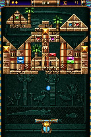 Screenshots vom Spiel Blocks of pyramid breaker für iPhone, iPad oder iPod.