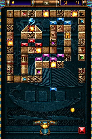 Écrans du jeu Blocks of pyramid breaker pour iPhone, iPad ou iPod.