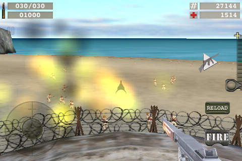 Écrans du jeu Blood beach pour iPhone, iPad ou iPod.
