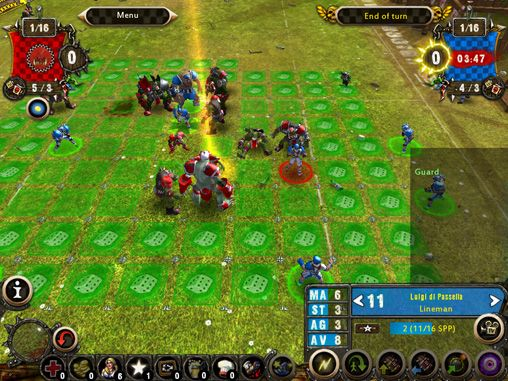 Écrans du jeu Blood bowl pour iPhone, iPad ou iPod.