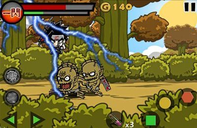 Screenshots of the Blood Ninja:Last Hero game for iPhone, iPad or iPod.