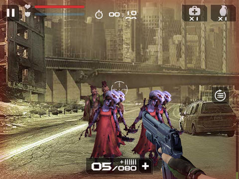 Écrans du jeu Blood zombies pour iPhone, iPad ou iPod.