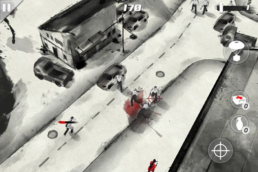 Écrans du jeu Bloodstroke: John Woo game pour iPhone, iPad ou iPod.