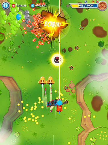 Screenshots of the Bloons supermonkey 2 game for iPhone, iPad or iPod.