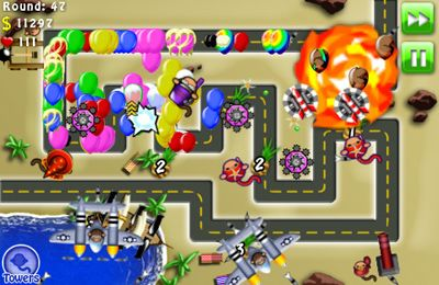 Capturas de pantalla del juego Bloons TD 4 para iPhone, iPad o iPod.