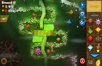 Screenshots do jogo Bloons TD 5 para iPhone, iPad ou iPod.