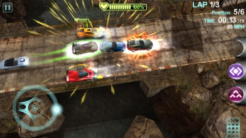 Screenshots of the Blur overdrive game for iPhone, iPad or iPod.