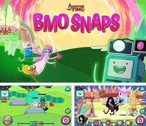 In addition to the game My Om Nom for iPhone, iPad or iPod, you can also download BMO snaps for free.