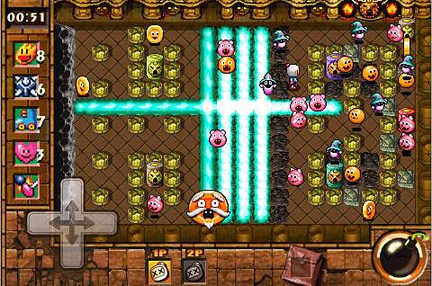iPhone、iPad 或 iPod 版Bomberman touch 2: Volcano party游戏截图。