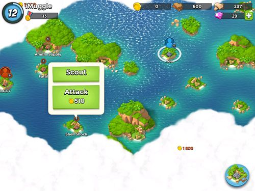 Screenshots of the Boom beach game for iPhone, iPad or iPod.