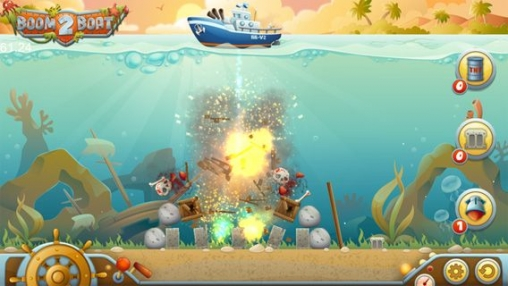 Screenshots of the Boom Boat 2 game for iPhone, iPad or iPod.