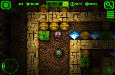 Screenshots of the Boulder Dash game for iPhone, iPad or iPod.