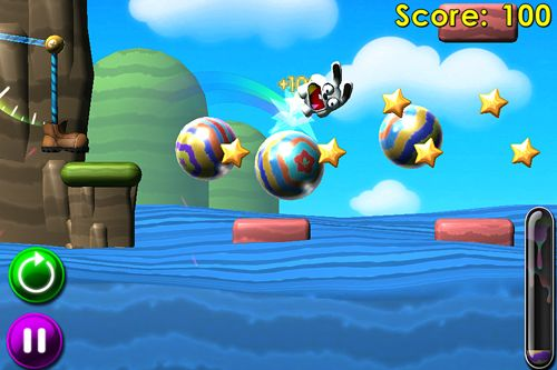 Screenshots vom Spiel Bounce the bunny für iPhone, iPad oder iPod.