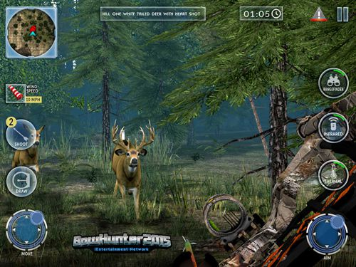 Геймплей Bow hunter 2015 для Айпад.
