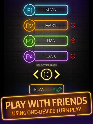 Screenshots of the Bowling central game for iPhone, iPad or iPod.