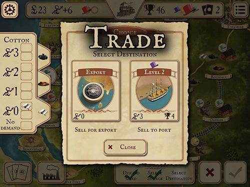 Screenshots of the Brass game for iPhone, iPad or iPod.