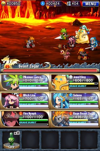 Screenshots of the Brave frontier game for iPhone, iPad or iPod.
