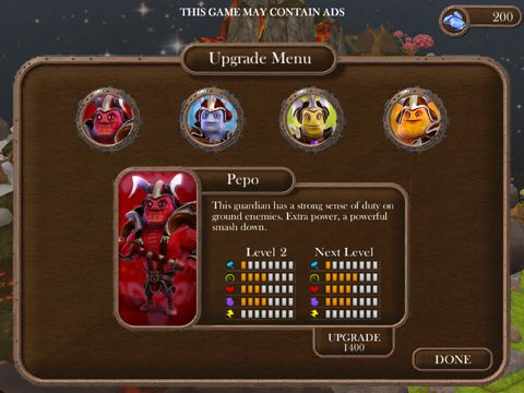 Screenshots of the Brave guardians game for iPhone, iPad or iPod.