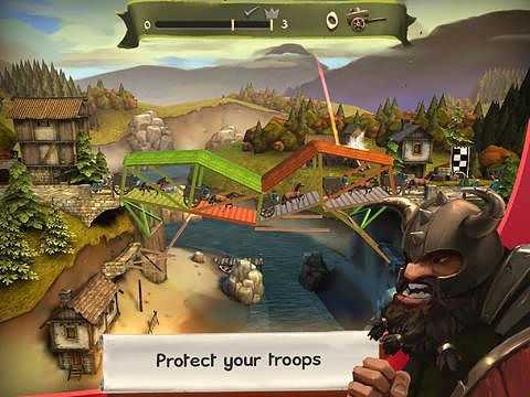 Screenshots of the Bridge constructor: Medieval game for iPhone, iPad or iPod.