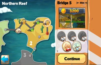 iPhone、iPad または iPod 用Bridge Constructor Playgroundゲームのスクリーンショット。
