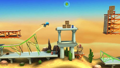 Screenshots of the Bridge constructor: Stunts game for iPhone, iPad or iPod.