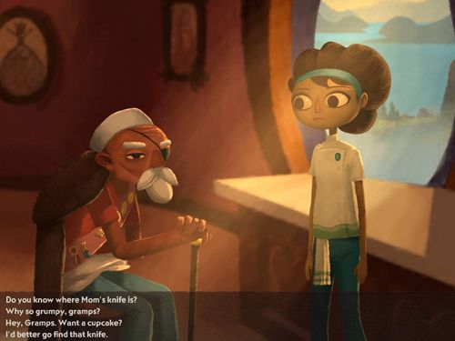 Capturas de pantalla del juego Broken age para iPhone, iPad o iPod.