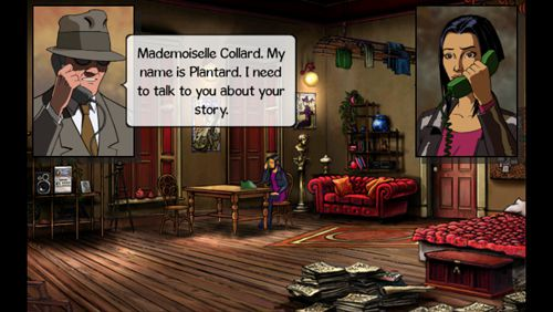 Screenshots of the Broken sword: Shadow of the Templars. Director's cut game for iPhone, iPad or iPod.