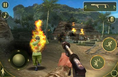 Скриншот игры Brothers in Arms 2: Global Front на Айфон.