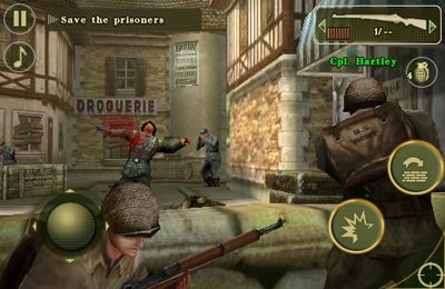 Écrans du jeu Brothers in Arms 2: Global Front pour iPhone, iPad ou iPod.