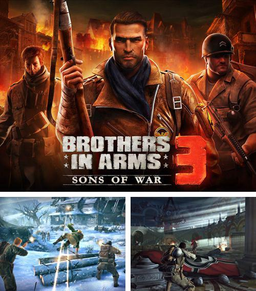 除了 iPhone、iPad 或 iPod 毛绒鸟游戏,您还可以免费下载Brothers in arms 3: Sons of war, 。