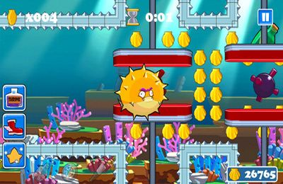 Screenshots of the Bubba the Blowfish game for iPhone, iPad or iPod.