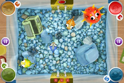 Screenshots of the Bubble fish party game for iPhone, iPad or iPod.