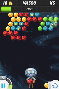 Écrans du jeu Bubble Galaxy With Buddies pour iPhone, iPad ou iPod.