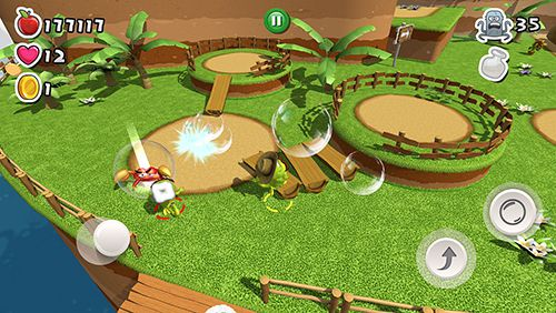 Écrans du jeu Bubble jungle pour iPhone, iPad ou iPod.