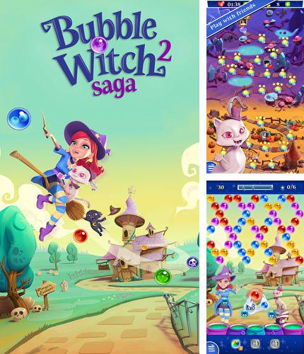 除了 iPhone、iPad 或 iPod 游戏,您还可以免费下载Bubble witch 2: Saga, 。