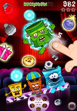 Capturas de pantalla del juego Bucketz para iPhone, iPad o iPod.