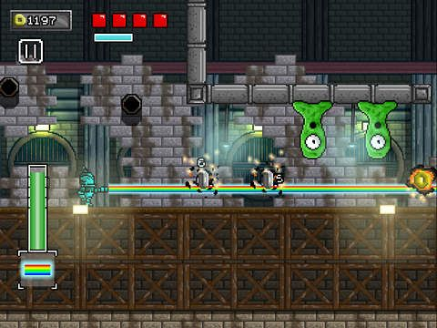Screenshots vom Spiel Buddy bot: Slayer of sadness für iPhone, iPad oder iPod.